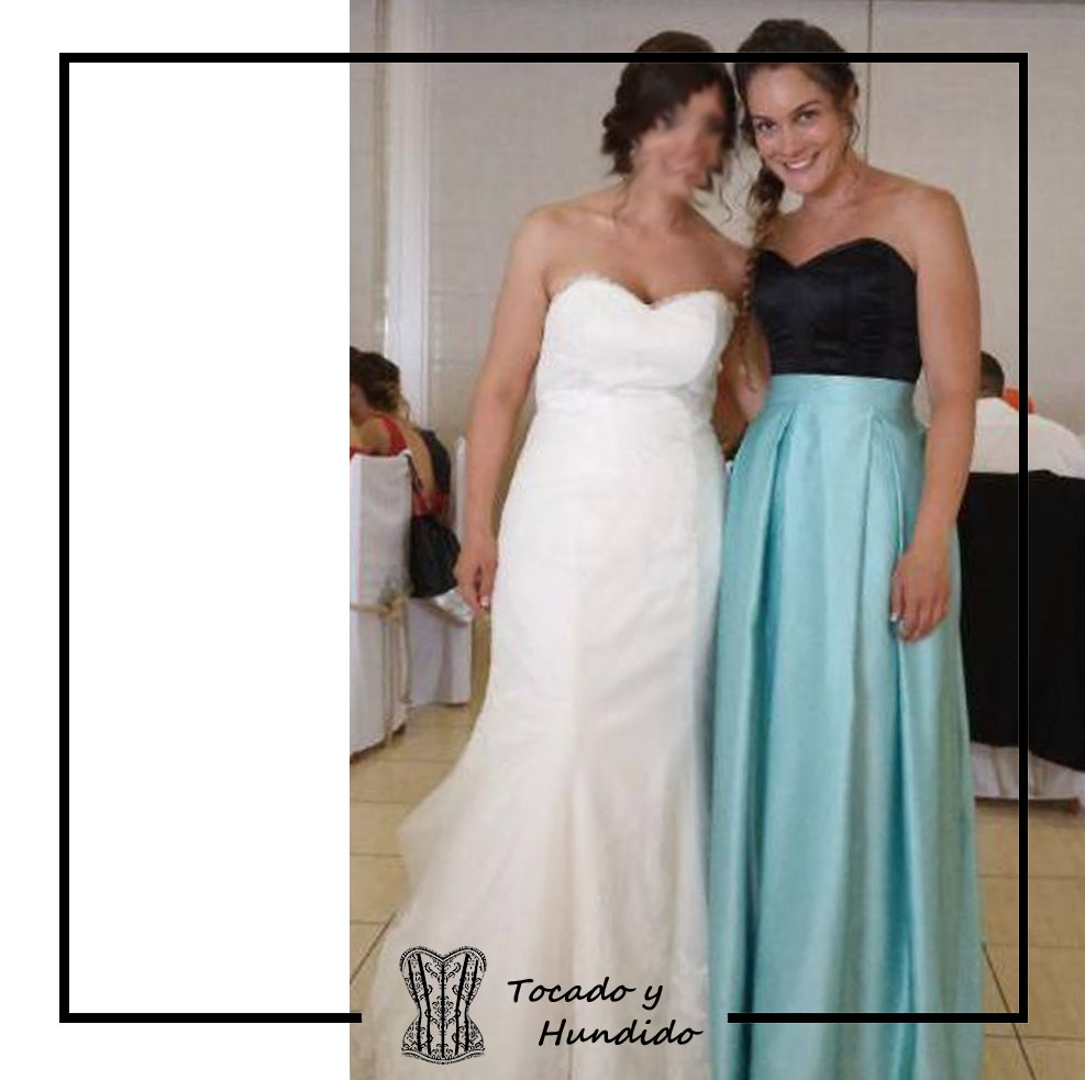 Conjunto invitada a boda con corset y falda larda
